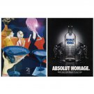 ABSOLUT HOMAGE w/ Exclusive Art Vodka Magazine Ad Canadian - 2 PAGES
