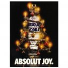 ABSOLUT JOY Vodka Magazine Ad