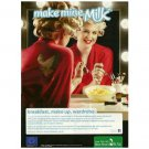 MAKE MINE MILK British Milk Mustache Magazine Ad KELLY OSBOURNE
