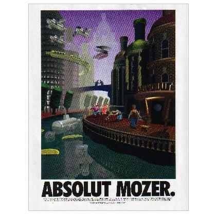 ABSOLUT MOZER Vodka Magazine Ad