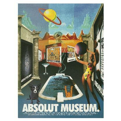 ABSOLUT MUSEUM Vodka Magazine Ad