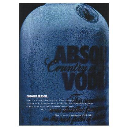 ABSOLUT SEASON Vodka Magazine Ad HERITAGE SERIES