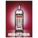 ABSOLUT STOKER Vodka Magazine Ad
