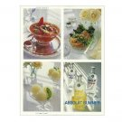 ABSOLUT SUMMER Double-Sided Recipe Cards Spectacular Magazine Ad