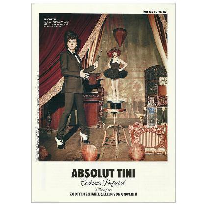 ABSOLUT TINI Vodka Magazine Ad
