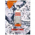 ABSOLUT TONIC Vodka Magazine Ad