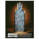 ABSOLUT BHARTI KHER Vodka Magazine Ad From India