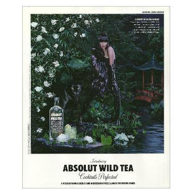 ABSOLUT WILD TEA Vodka Magazine Ad