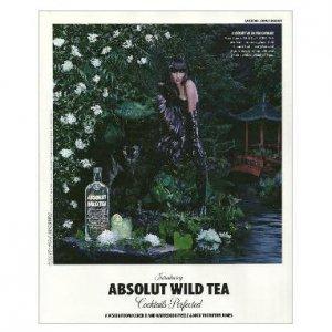 ABSOLUT WILD TEA Vodka Magazine Ad