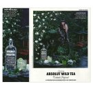 ABSOLUT WILD TEA Vodka Magazine Ad w/ Cocktail Recipe Sidebar