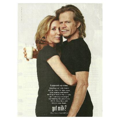 FELICITY HUFFMAN & WILLIAM H MACY got milk? Milk Mustache Magazine Ad