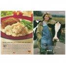 MARTHA STEWART ON HER RANCH Milk Mustache Magazine Ad w/ Thanks to Ore-Ida Ad © 1997