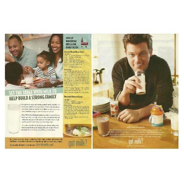 TYLER FLORENCE got milk? Milk Mustache Magazine Ad © 2010 - 2 PAGES