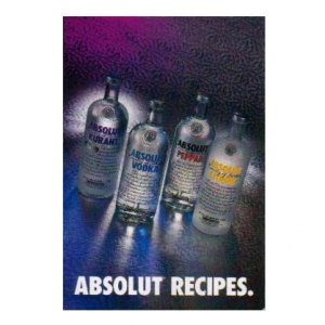 ABSOLUT RECIPES -12-Page Booklet w/ 11 Cocktail Recipes