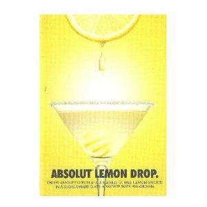ABSOLUT LEMON DROP - 4-Page Brochure w/ 5 Cocktail Recipes