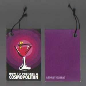 ABSOLUT KURANT How to Prepare a Cosmopolitan 36-PAGE 2-WAY FLIP BOOK