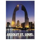 ABSOLUT ST LOUIS Vodka Magazine Ad