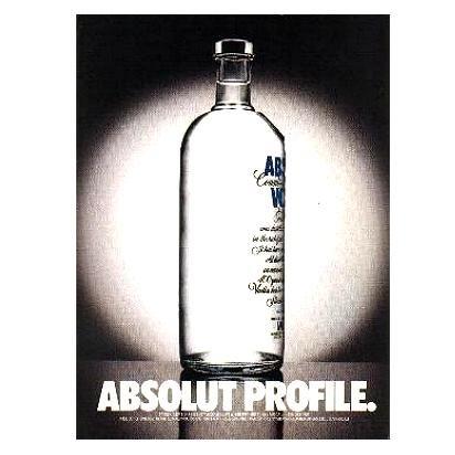 ABSOLUT PROFILE Vodka Magazine Ad