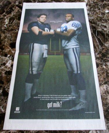 REX GROSSMAN and MARVIN HARRISON Super Bowl XLI got milk? USA Today Newspaper Ad