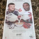 GIANTS' HAKEEM NICKS AND PATRIOTS' WES WELKER got milk? USA Today Newspaper Ad