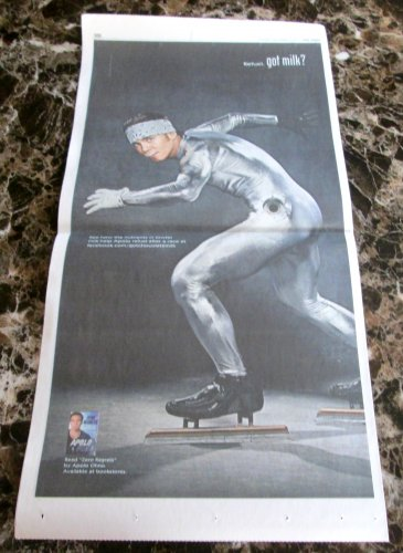 APOLO OHNO got milk? Milk Mustache USA Today Full-Page Newspaper Ad 2011khd b  g