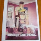 ABSOLUT GIRLFRIENDS Canadian Vodka Ad LARGE NEWSPAPER PAGE 2002 HARD TO FIND!