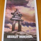ABSOLUT INUKSHUK Canadian Vodka Ad LARGE NEWSPAPER PAGE 2000 HARD TO FIND!