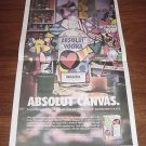 ABSOLUT CANVAS Newspaper Ad for Romero Britto Special Edition Bottle 2003