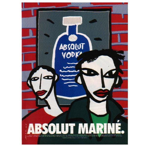 ABSOLUT MARIN� Vodka Magazine Ad w/ Artwork by Oscar Mariné Brandi