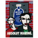 ABSOLUT MARINÉ Vodka Magazine Ad w/ Artwork by Oscar Mariné Brandi