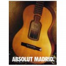 ABSOLUT MADRID Vodka Magazine Ad