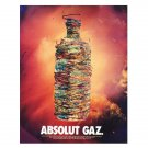ABSOLUT GAZ Vodka Magazine ad w/ Artwork by Stan Gaz