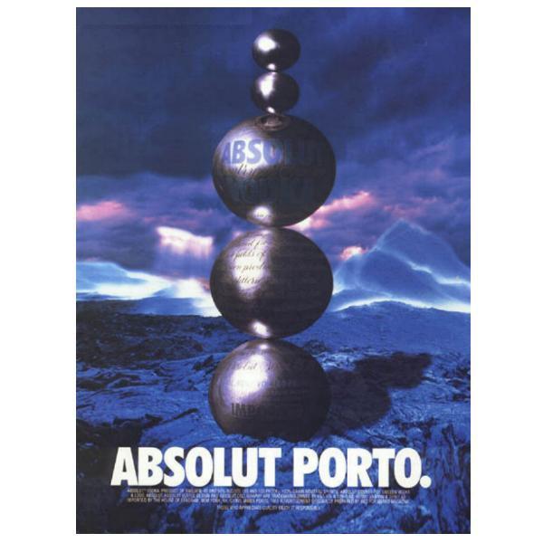 ABSOLUT PORTO Vodka Magazine Ad