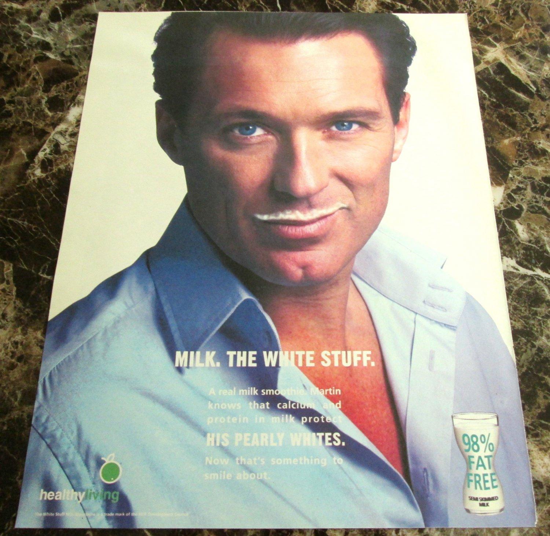 MILK. THE WHITE STUFF Scottish Milk Mustache Newspaper Magazine Ad 2004 - #2