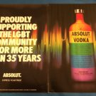 "ABSOLUT COLORS ""EXPRESS YOUR PRIDE"" - 2-Page Ad Proudly Supporting LGBT Colorful"