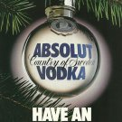 HAVE AN ABSOLUT BALL Vodka Magazine Ad