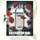 ABSOLUT BRAVO Vodka Magazine Ad featuring Absolut's President Michel Roux RARE!