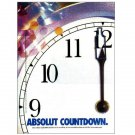 ABSOLUT COUNTDOWN (to 2000) Canadian Magazine Ad RARE!