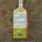 ABSOLUT FREEDOM Vodka Magazine Ad by Jerzy Kolacz for PEN Canada RARE!