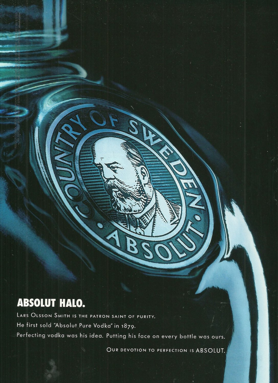 ABSOLUT HALO Heritage Series Vodka Magazine Ad