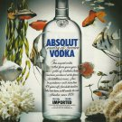 ABSOLUT HOLIDAY German Vodka Magazine Ad NOT EASY TO FIND!
