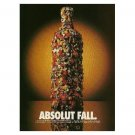 ABSOLUT FALL Vodka Magazine Ad GETTING HARDER & HARDER TO FIND!