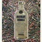 ABSOLUT GARTEL Vodka Magazine Ad w/ Artwork by Laurence Gartel