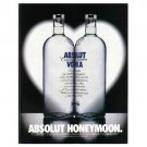 ABSOLUT HONEYMOON Vodka Magazine Ad