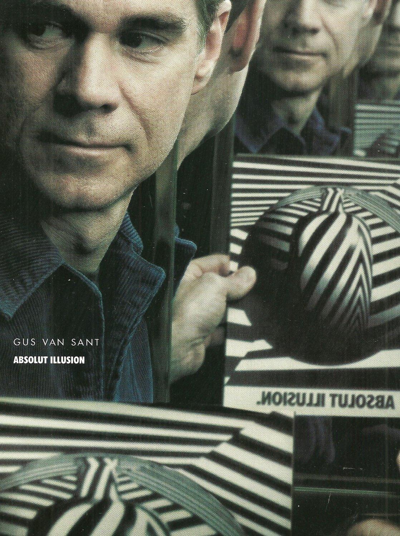 ABSOLUT ILLUSION 20th Anniversary Vodka Magazine Ad Gus Van Sant