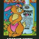 ABSOLUT KOZIK Vodka Magazine Ad w/ Artwork by Frank Kozik HARD TO FIND!