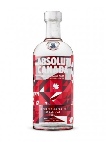 ABSOLUT CANADA 150 ANNIVERSARY LIMITED EDITION 750 ML BOTTLE � EMPTY ONLY!