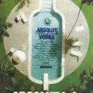 ABSOLUT L.A. Vodka Magazine Ad SWIMMING POOL