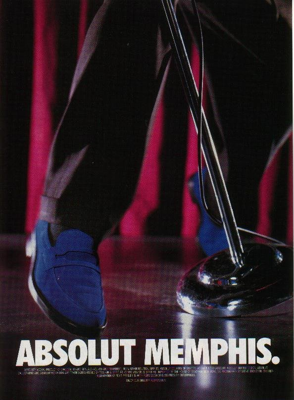 ABSOLUT MEMPHIS Vodka Magazine Ad NOT TOO COMMON!