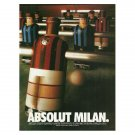 ABSOLUT MILAN Vodka Magazine Ad NOT TOO COMMON!